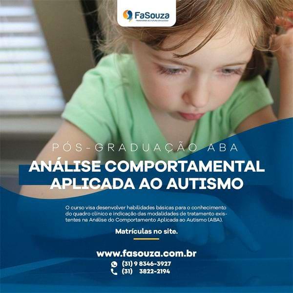 Pós-Graduação ABA - Análise Comportamental aplicada ao Autismo