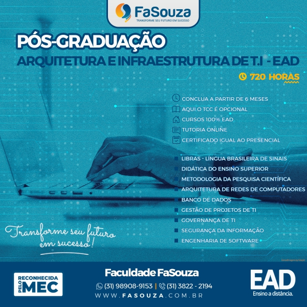 Faculdade Souza - Arquitetura e infraestrutura de T.I