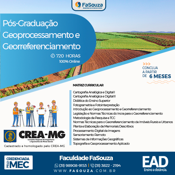 Faculdade FaSouza - Geoprocessamento e Georreferenciamento