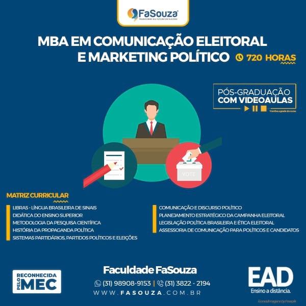 Faculdade FaSouza - MBA em Comunicação Eleitoral e Marketing Político