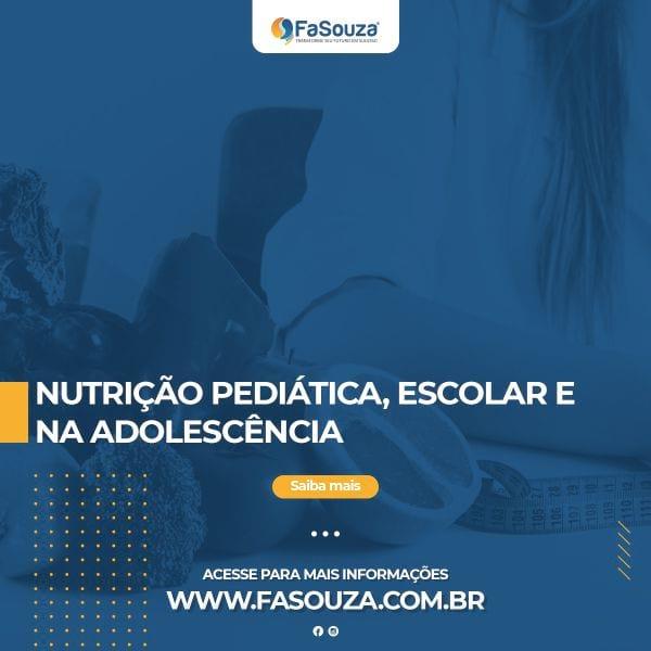 Faculdade Souza - Nutrição Pediátrica, Escolar e na Adolescência