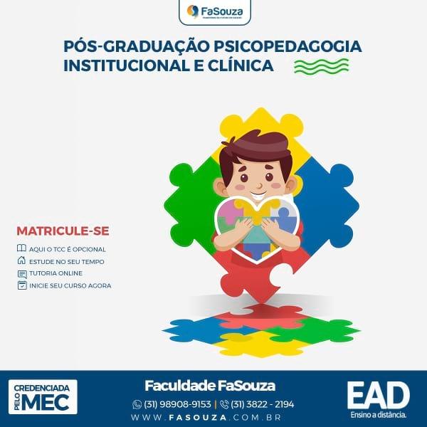 Pós-Graduação em Psicopedagogia Institucional e Clínica