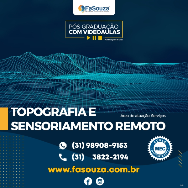 Faculdade FaSouza - Topografia e Sensoriamento Remoto